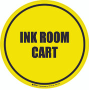 Ink Room Cart Floor Sign
