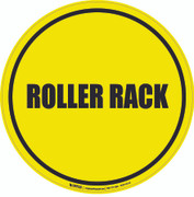 Roller Rack Floor Sign