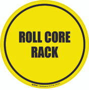 Roll Core Rack Floor Sign