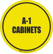 A-1 Cabinets Floor Sign