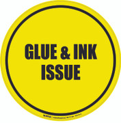 Glue & Ink Issue Floor Sign