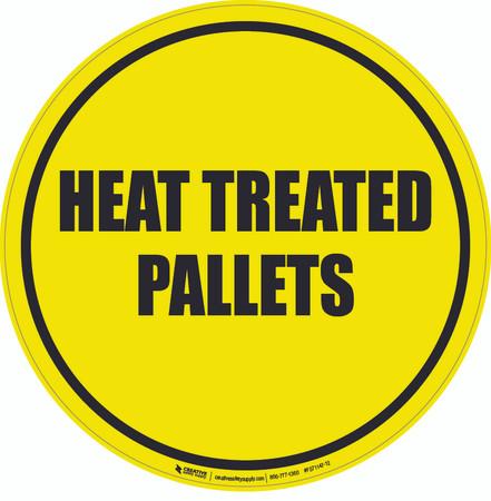 Heat Treated Pallets Floor Sign