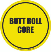 Butt Roll Core Floor Sign