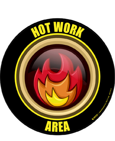 Hot Work Area Floor Sign