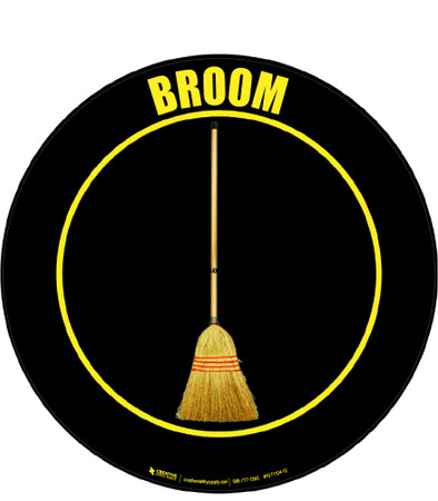 Broom Floor Sign