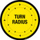 Turn Radius Floor Sign