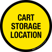 Cart Storage Location Floor Sign
