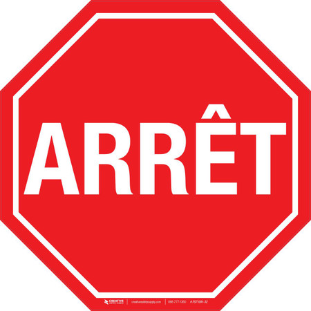 Stop Sign (French) Floor Sign