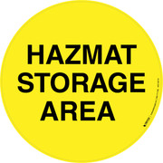 Hazmat Storage Area Floor Sign