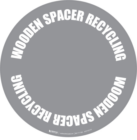 Wooden Spacer Recycling Floor Sign