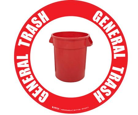 General Trash (Red) Floor Sign