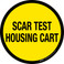 Scar Test Housing Cart Floor Sign