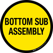 Bottom Sub Assembly Floor Sign