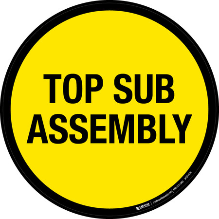 Top Sub Assembly Floor Sign