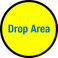 Drop Area Floor Sign