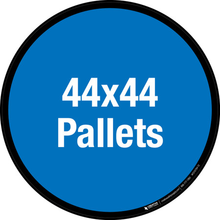 44x44 Pallets Floor Sign