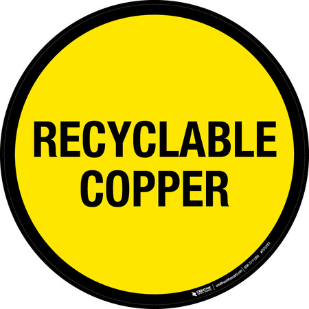 Recyclable Copper Floor Sign