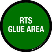 RTS Glue Area Floor Sign