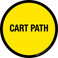 Cart Path Floor Sign