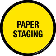 Paper Staging Floor Sign