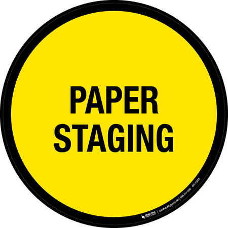 Paper Staging Floor Sign