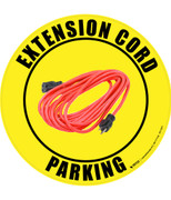 Extension Cord Parking (Real) Floor Sign