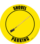 Shovel Parking (Real) Floor Sign