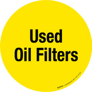 Used Oil Filters Floor Sign