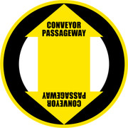 Conveyor Passageway Floor Sign