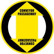 Conveyor Passageway Floor Sign