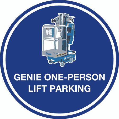Genie One-Person Lift Parking (Real) Floor Sign