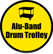 Alu-Band Drum Trolley Floor Sign