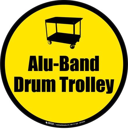 Alu-Band Drum Trolley Floor Sign