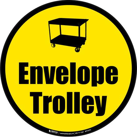 Envelope Trolley Floor Sign