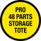 Pro 48 Parts Storage Tote Floor Sign