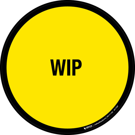 WIP Floor Sign