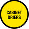 Cabinet Driers Floor Sign
