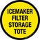 Icemaker Filter Storage Tote Floor Sign