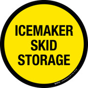 Icemaker Skid Storage Floor Sign