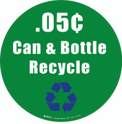 .05íëŒÇí«Œ¢ Can & Bottle Recycle Floor Sign