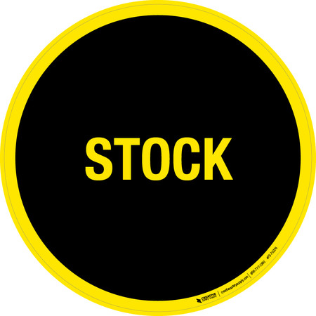 Stock Floor Sign