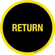 Return Floor Sign