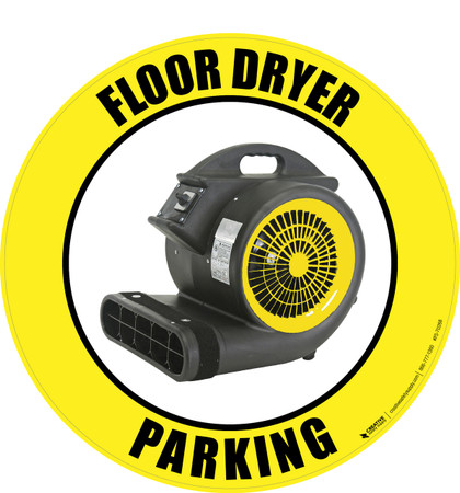 Floor Dryer Parking (Real) Floor Sign