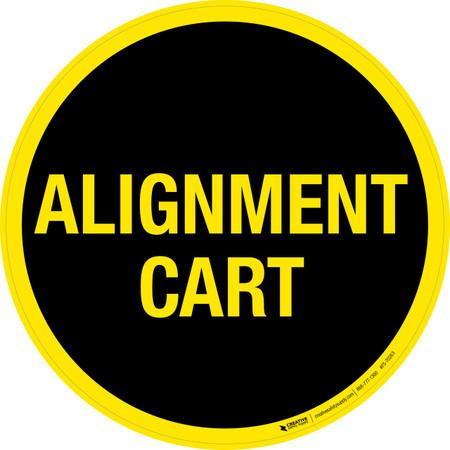 Alignment Cart Floor Sign