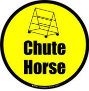 Chute Horse Floor Sign