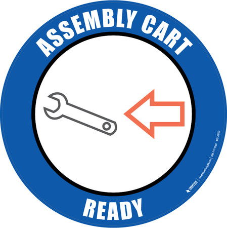 Assembly Cart Ready Floor Sign