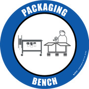 Packaging Bench Floor Sign