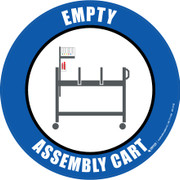 Empty Assembly Cart Floor Sign