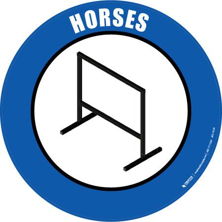 Horses Floor Sign