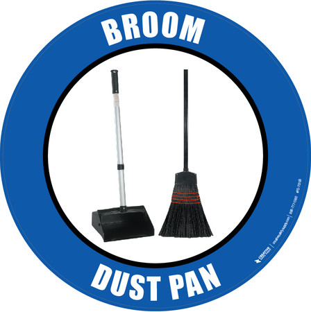 Broom Dust Pan (Real) Floor Sign